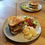 Clubsandwich  met gegrilde kip